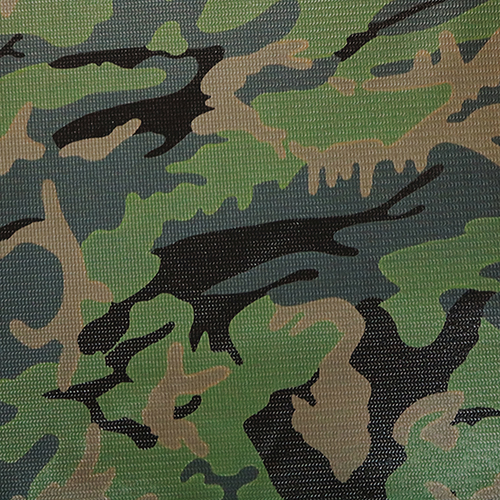 808700 Brun Tuff 18oz Vinyl Coated Polyester Army Green Camouflage