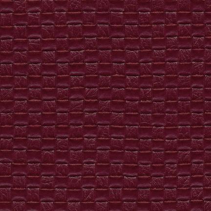 Nuvtex Berretta Basket Weave Vinyl Bordeaux