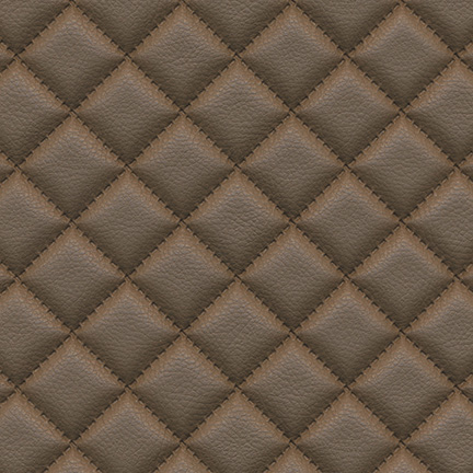 Troy Diamond Quilted Faux Leather Bark