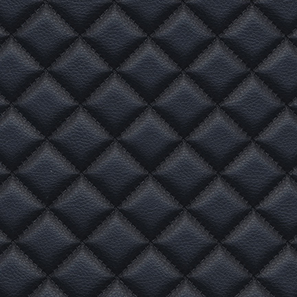Troy Diamond Quilted Faux Leather Ink