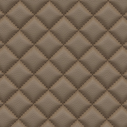 Troy Diamond Quilted Faux Leather Limestone