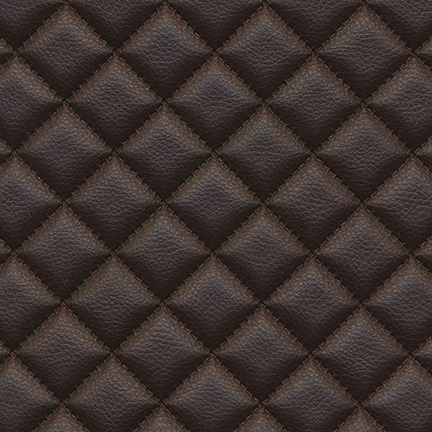 Troy Diamond Quilted Faux Leather Mink