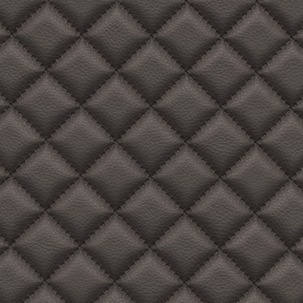 Troy Diamond Quilted Faux Leather Smoke