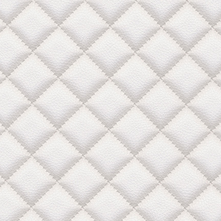 Troy Diamond Quilted Faux Leather Snow