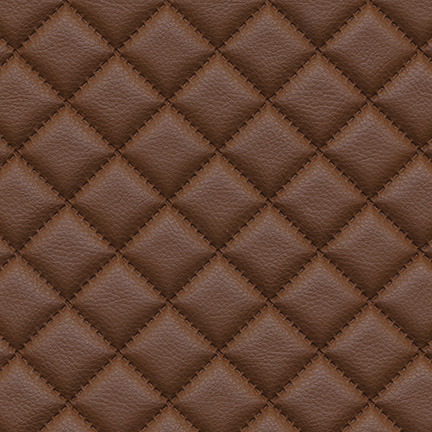 Troy Diamond Quilted Faux Leather Terra